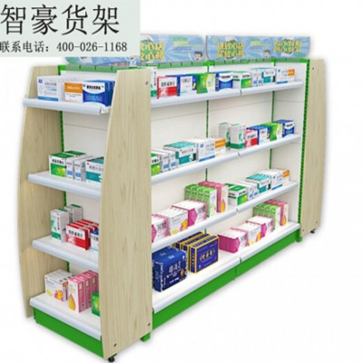 超市多功能货架 药店药品展示架子 货架生产厂家